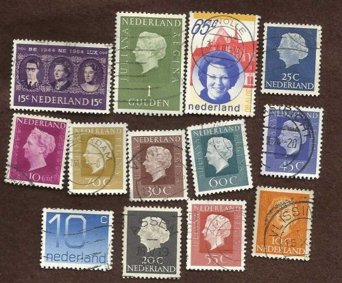 Netherlands Collection of 13 USED Stamps