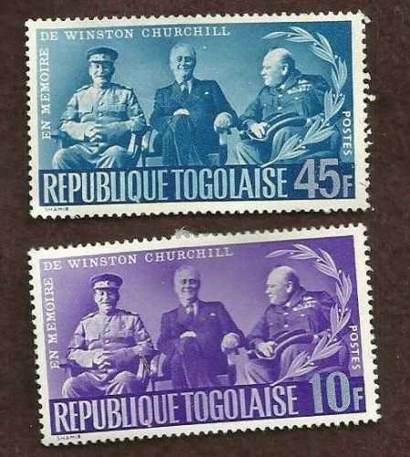 Historic Churchill Roosevelt Stalin Meeting - WWII - Republic Togolaise