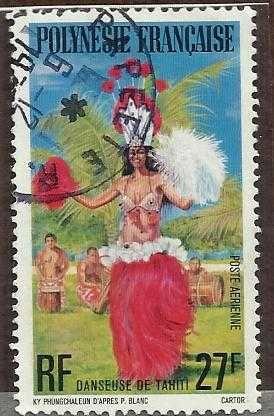 French Polynesia SC# C148 27f //Danseuse de Tahiti