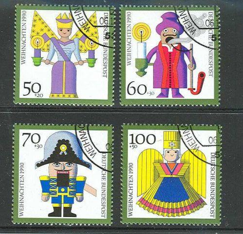 GERMANY SCOTT# B697-700 COMPLETE USED SEMI POSTAL ISSUE SET OF 1990