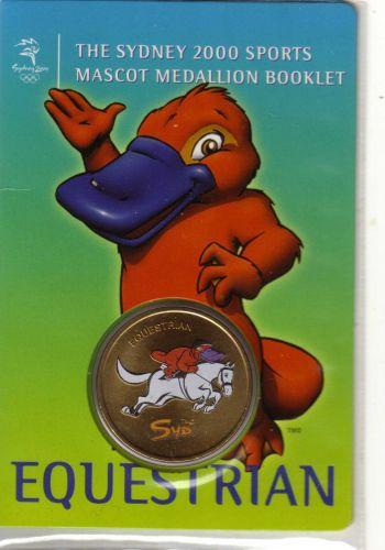 SYDNEY OLYMPICS 2000 Mascot (Syd) Medallion Booklet... EQUESTRIAN