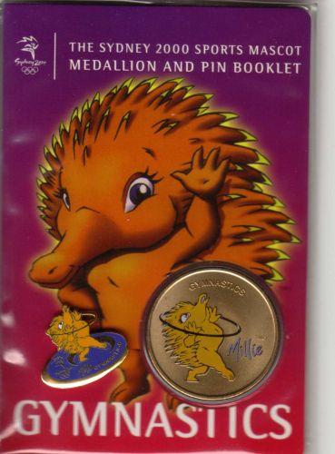 SYDNEY OLYMPICS 2000 Mascot (Millie) Medallion Booklet (with PIN)... GYMNASTICS