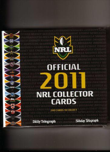 Australian 2011 NRL Collector Cards FULL SET of 240