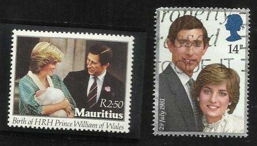 MAURITIUS # 552 MNH ROYAL BIRTH OF PRINCE WILLIAM & Bonus GN Charles & Diana