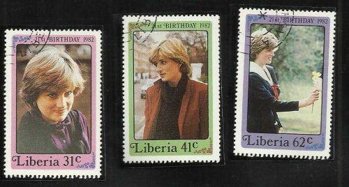 Liberia 1982 Diana, Princess of Wales, 21st Birthday Set MNH