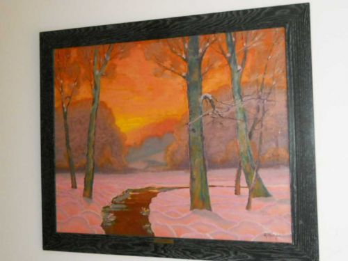 Sunset By listed artist Arthur Humpal