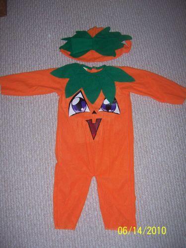 Like New Infant Pumpkin Costume, size 12M