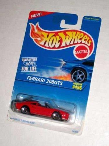 1996 Hot Wheels HW #496 Red FERRARI 308 GTS Blister Pack 5SS