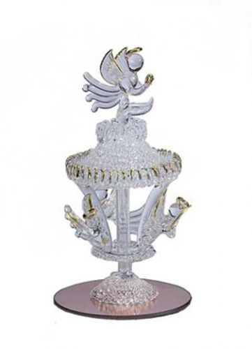 SPUN GLASS ANGEL CAROUSEL