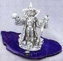 WIZARD WITH CANE (DIAMOND CUT DETAIL)
