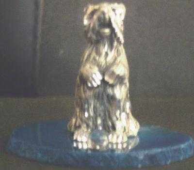 """SALE"" TERRIER BEGGING (DIAMOND CUT PEWTER)"