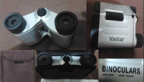 Binoculars Vivitar 88M 1000M 4X21 DXF with Case