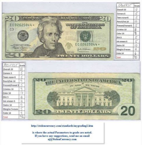 2004 $20 US Note with a STAR #ec02625044