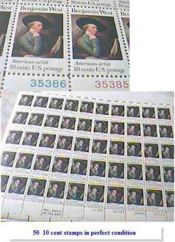 1973 Benjamin West Vintage US Postage Stamps