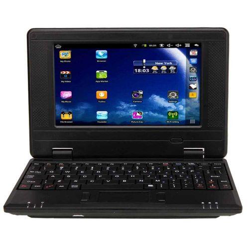 "New 7"" VIA8650 Mini Notebook Netbook Android 2.2 800MHz 256MB 4GB Wi-Fi Black"