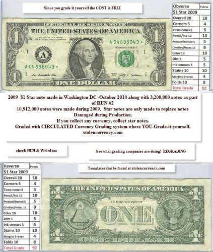 $1 2009 Federal Reserve STAR Note A04898043 4 years old