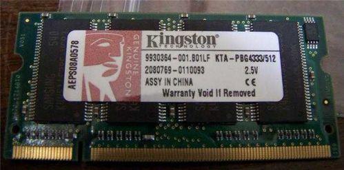 Kingston Lap Top 512MB memory #kingston512mb