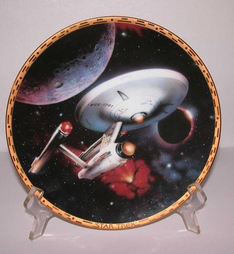 """Enterprise NCC-1701- Hamilton Collection Plate 8"""" 1992"""