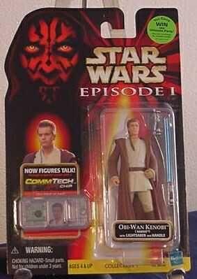 "Star Wars Episode 1 - Obi-Wan Kenobi - Naboo 4"" action figure"