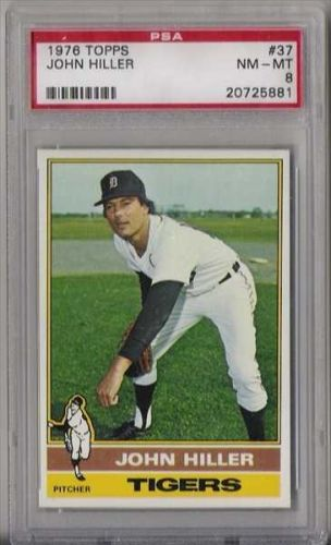 1976 Topps Baseball #37 John Hiller PSA NM-MT 8 Detroit Tigers