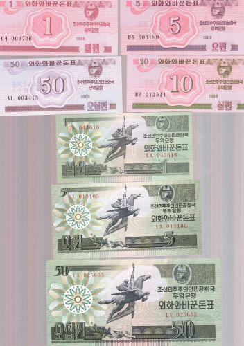 North Korea Banknote Set