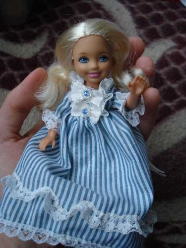 Barbie's sister Chelsea in a Rococo dress