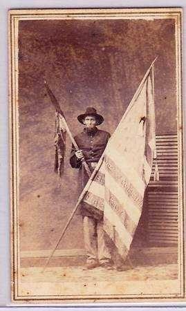 "FAMOUS PHOTO Joseph Hastings 118th ny vol inf 6\´ 6\"" tall"