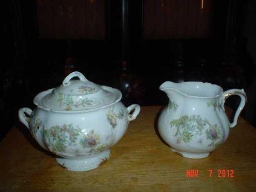 Antique Theodore Haviland Limoges Creamer & Sugar Bowl c. 1895