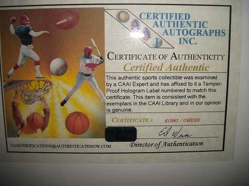 Certified-Authentic Signatures of TWO Dallas Cowboys on Football w.Certificate