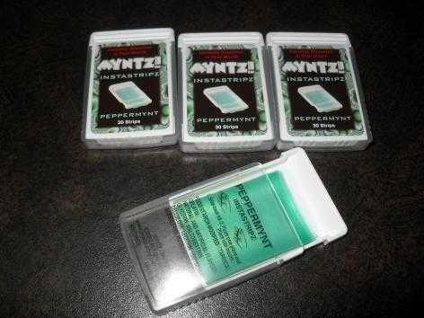 New Myntz Instastripz Peppermint Breath Strips (4 Packs)