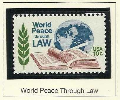 US 1576 World Peace Through Law 10c MNH 1975 US STAMP in Quality Mount!