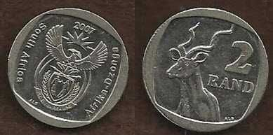 South Africa 2 Rand 2007 Coin