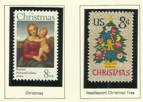 1973 Commemoratives 1973 Christmas Stamps US MINT STAMPS