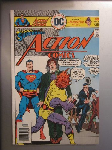 Action Comics #460 SUPERMAN nice gloss & color 1976 1st series VG+/Fine