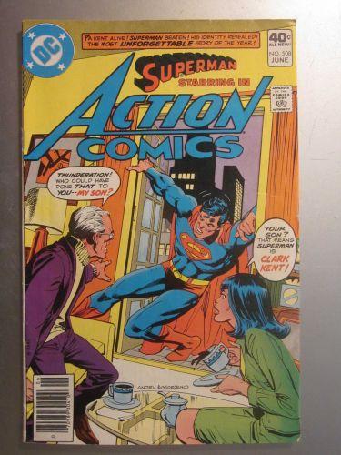 Action Comics #508 SUPERMAN nice gloss & color 1980 1st series VG/Fine