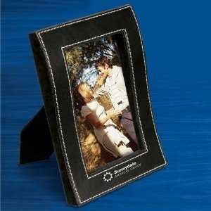 """Curved Leather like 4"""" x 6"""" Photo Frame w/contrast Stitching"""