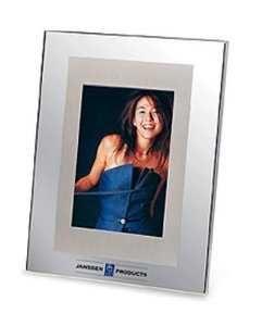 Mirror Finish & Brushed Aluminum Accent Photo Frame