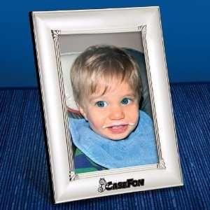 Metal Photo Frame. Holds 5 x 7 Photo Matte Chrome Finish w/shiny Chrome