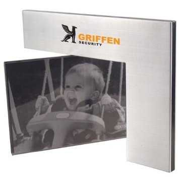 Brushed Aluminum rotating Frame. Hold two 4 x 6 photos. 2 for $9.99