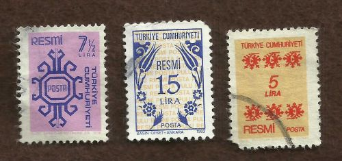 TURKEY Set of 3 Used