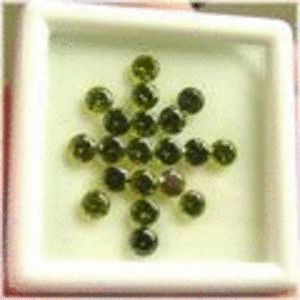 20 Pieces Dark Green Peridot Rounds - 0.44CTS avg