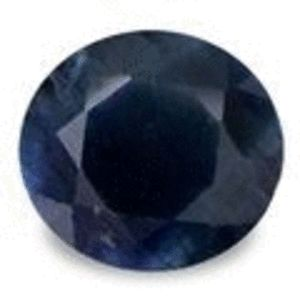 MIDNIGHT BLUE SAPPHIRE - ROUND FACET - 0.435cts