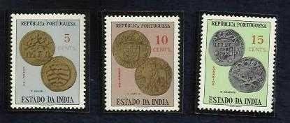 1959 INDIA PORTUGUESE PORTUGAL 5, 10, & 15 CENTS COINS SERIES UNUSED