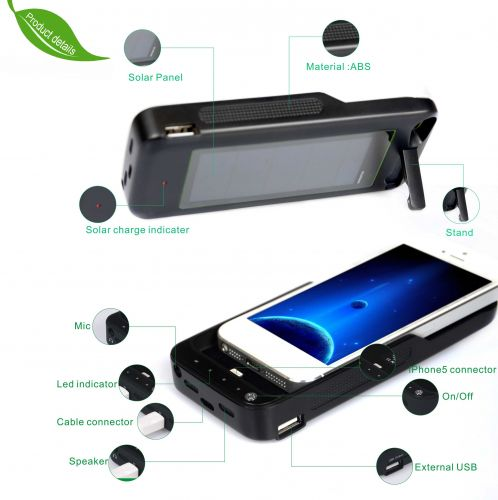 Solar Charge Battery For IPhone 5