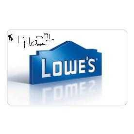 LOWES Gift card...$462.71 for $375