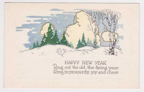 New Year or New Years early 1900's Postcard #16