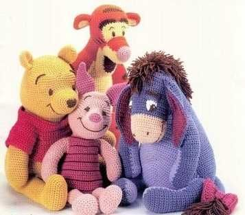 Crochet 4 Toys Winnie pooh tiger piglet eeyore PDF Patterns
