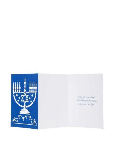 Menorah Lasercut Small Boxed Holiday Cards