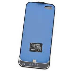 iPhone 5 Battery Charge Case in Black & Blue