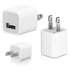 USB AC Home Wall Travel Charger Power Adapter - White for Apple iPhone 5 4S 4 4G